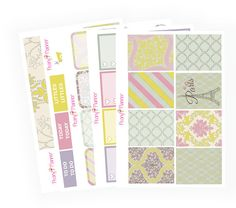 Springtime in Paris Full Kit   Erin Condren Planner Stickers