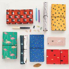 Japanese Creative Kawaii Cute Cartoon  Leather Bound DIY Notebook | Travel Journal | Diary | Planner