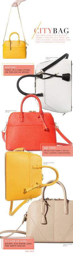 the zara city bag - $79.90