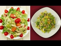 2 Avocado Chickend Salad Recipes For Weightloss Avocado Salad Recipes, Good Food, Yummy Food, Delicious Meals, Foods To Eat, Health Tips, Cabbage, Spaghetti, Dinner Recipes