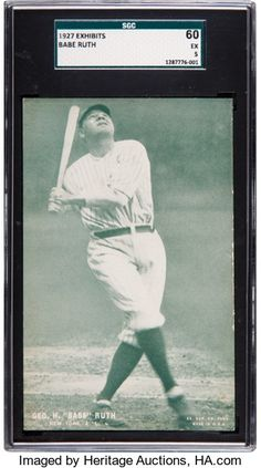 154495c1a 1927 Exhibits Babe Ruth SGC 60 EX 5 - None Higher.... Baseball | Lot #80111  | Heritage Auctions