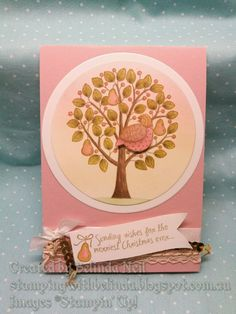 Stampin' Up! Partridge & Pears- Blendabilities.