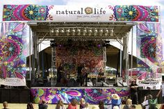 Natural Life Music Festival stage.  We <3 the stage and we LOVE music festivals!