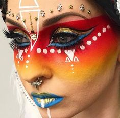 nordischer Warpaint - Make-up Inspiration - Makeup Sfx Makeup, Cosplay Makeup, Costume Makeup, Makeup Geek, Maquillage Halloween, Halloween Makeup, Maquillage Harry Potter, Tribal Makeup, Extreme Makeup