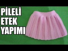 Greetings Ladies Today I've tried to tell you how to make a pleated skirt today I hope you liked. Baby Hats Knitting, Sweater Knitting Patterns, Lace Knitting, Knitting Socks, Knitted Hats, Knit Baby Dress, Cheerleading Outfits, Crochet Videos, Knit Fashion