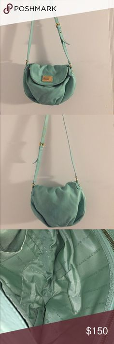 Marc by Marc Jacobs Mint Green Crossbody This mint green crossbody by Marc by Marc Jacobs has never been used and is in great condition. I have the additional bag cover to go with. Marc by Marc Jacobs Bags Crossbody Bags