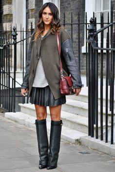 Oversized Two-Tone Varsity Jacket - Fall 2012 Outwerwear Street Style - Harper's BAZAAR