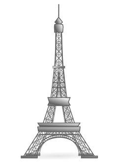Kleurplaat Eiffeltoren - Frankrijk - Afb 22447.