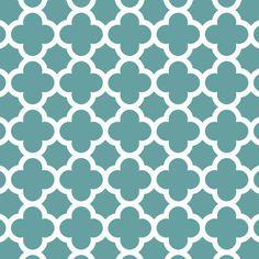 Fabric... Quatrefoil in Teal by Riley Blake Designs
