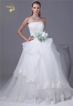 Now  at our store Womens Wedding Dresses Organza Lace Beading A Line Bridal Gown come see at A Sheek Boutique.