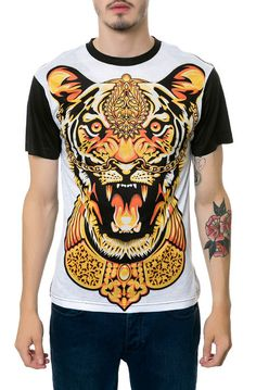 Sect Supernal Tee Tiger in White & Black