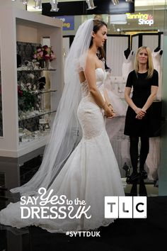 Our bride doesn't seem so sure about this dress, what do you think? 'Like' if you'd say Yes to this dress.   Say Yes To the Dress UK on TLC! #SYTTDUK