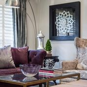 Loving the arch lamp.  arc lamp?  Pallos Verdas Drive - Staged to DWELL