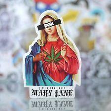 марихуану, я влюбился в Мэри Джейн глянцевая виниловая наклейка на скейтборд decal-g_026
