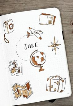 bullet journal doodles \ bullet journal - bullet journal ideas - bullet journal layout - bullet journal inspiration - bullet journal doodles - bullet journal weekly spread - bullet journal ideas layout - bullet journal ideas pages Bullet Journal School, Planner Bullet Journal, Bullet Journal Travel, Travel Journal Scrapbook, Scrapbook Cover, Bullet Journal Aesthetic, Bullet Journal Notebook, Bullet Journal Ideas Pages, Bullet Journal Spread