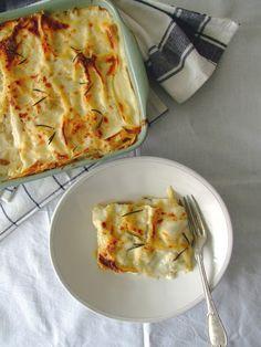 Lasanha branca de frango e cogumelos / Chicken and mushrooms white lasagna