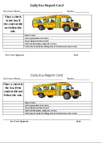 Read this post about how to implement a Daily Bus Report Card into your behavior management plan. Behavior Contract, Behavior Cards, Student Behavior, Behaviour Management, Behaviour Chart, Behavior Plans, Classroom Management, School Bus Safety, School Bus Driver