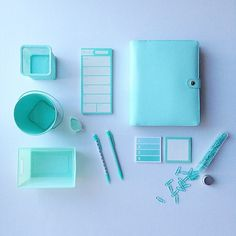 Get organized and start 2015 off in mint condition. found some beauties in the Dollar Spot where every day is a treasure hunt. by target School Supplies Organization, Diy School Supplies, Planner Organization, Office Supplies, 6th Grade School Supplies, Green School, Galaxy Painting, Diy Notebook, Mint Blue