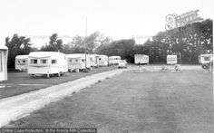 3 Bluebird Sunparlors and a further Bluebird to rear as well as 2 Pembertons Vintage Rv, Vintage Caravans, Vintage Campers, Vintage Trailers, Caravan Pictures, British Holidays, Caravan Holiday, Bluebirds, Mobile Homes