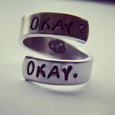 the fault in our stars accessories okay ring