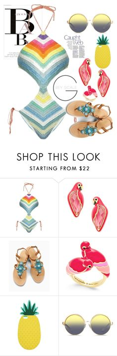 """""""Beach party 4"""" by erohina-d ❤ liked on Polyvore featuring November, Mara Hoffman, Kate Spade, OLIVIA MILLER, Miss Selfridge and Matthew Williamson"""