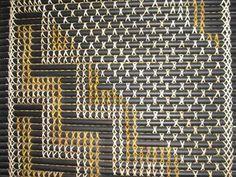 Tukutuku Panel made with Kiekie, Pingao, Toetoe according to the traditional way… Flax Weaving, Basket Weaving, Maori Patterns, Maori Designs, Maori Art, Kiwiana, Indigenous Art, Weaving Patterns, Shanghai