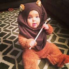 Maybe one year you put your kid in a bear onesie, threw a shirt on their head, and called them an Ewok.
