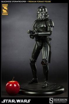 Figura Estatua Stormtrooper Black Premium 50 cm - Star Wars