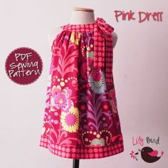 @Kim Medlock - you could make Keelin a dress to match your apron!! ;-)   pink dress - Lily Bird Studio 12M - 8 years