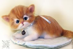 Купить Киска Апельсинка - рыжий, котик, котики, котик тедди, кот, кошка, кошка из шерсти