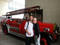 With Laura Hoogendoorn, working for the Fire Brigade