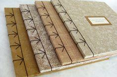 Handmade Notebook, Diy Notebook, Handmade Books, Notebook Covers, Handmade Journals, Journal Covers, Mini Albums, Japanese Stab Binding, Bookbinding Tutorial