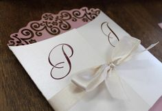 Bali inspired wedding invitation  pink and ivory