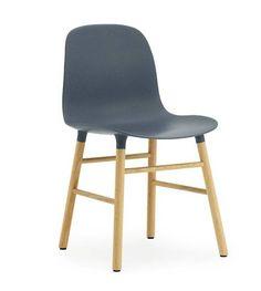 Normann Copenhagen Stuhl Form in blau aus Eichenholz und Kunststoff 78x48x52cm - lefliving.de