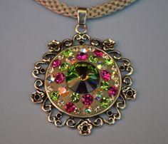 RIVOLI necklace with SWAROVSKI crystal by SilverArti on Etsy, £22.00