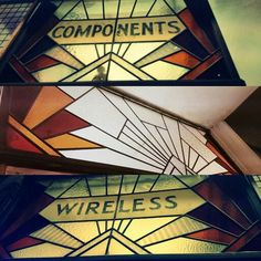 """City Radio ""original 30s art deco window headers. Bond St, Ealing Broadway."