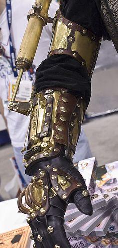 whisper-war: Too cool  Steam bionic man arm yea