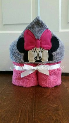 Minnie Mouse Inspired Hooded Towel... Baby by SunbowBoutiqueCo