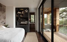 Great windows and outside bath - The Hillside House - modern - bedroom - san francisco - SB Architects