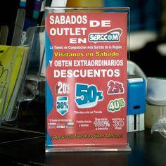 El #SabadoDeOutlet se acerca ya! Promociones descuentos y rebajas te esperan en #SERCCOM Visítanos!