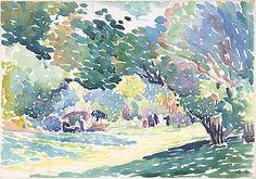 Watercolor Landscape by Henri-Edmond Cross 1904 Neo-Impressionism Pointillism Watercolor Art Print by EnShape - X-Small Artist Canvas, Canvas Art, Canvas Prints, Framed Prints, Matisse, Art Mural, Wall Art, Painting Prints, Fine Art Prints