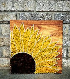 Check out this item in my Etsy shop https://www.etsy.com/listing/554075351/sunflower-string-art