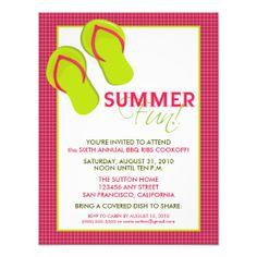 Pool party invitation 5 x 7 invitation card bbq and summer summer fun picnicbbq invitation pink stopboris Gallery