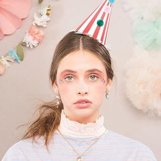 🌿🌸:: The Tea Party Collection Party Hats, Tea Party, Indie, Lookbook Design, Fashion Photography, Jewelry Design, Spring Summer, Photo And Video, Stripes