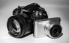 Nikon D7100 and Nikon 1 J1