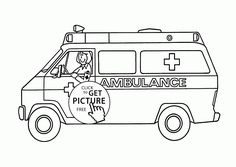 ambulance coloring page for kids transportation coloring pages printables free wuppsycom - Ambulance Coloring Pages Printable