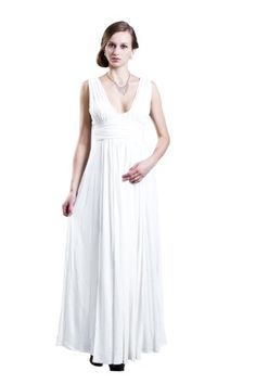 Beautifly Womens Goddess Sexy Vneck Maxi Gown *** To view further for this item, visit the image link.