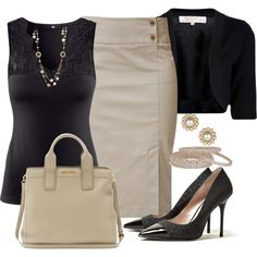 """""""Beige & Black"""" by angelysty on Polyvore"""