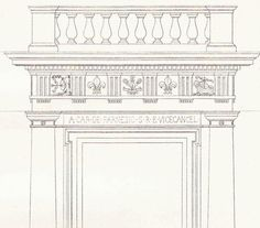 Chancery Palace Door Vignola Classical Architecture by CarambasVintage, $16.00