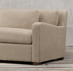 8' Belgian Slope Arm Upholstered Sofa